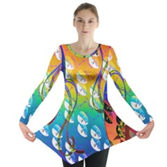 Abstract Mask Artwork Digital Art Long Sleeve Tunic