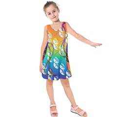 Abstract Mask Artwork Digital Art Kids  Sleeveless Dress