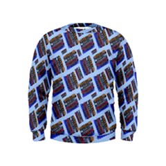 Abstract Pattern Seamless Artwork Kids  Sweatshirt