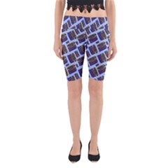 Abstract Pattern Seamless Artwork Yoga Cropped Leggings