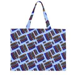 Abstract Pattern Seamless Artwork Zipper Large Tote Bag
