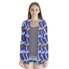 Abstract Pattern Seamless Artwork Cardigans