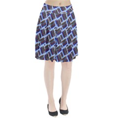 Abstract Pattern Seamless Artwork Pleated Skirt