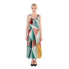 Abstracts Colour Sleeveless Maxi Dress