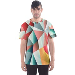 Abstracts Colour Men s Sport Mesh Tee