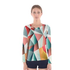 Abstracts Colour Women s Long Sleeve Tee