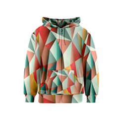 Abstracts Colour Kids  Zipper Hoodie