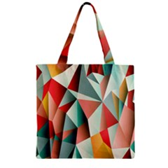 Abstracts Colour Zipper Grocery Tote Bag