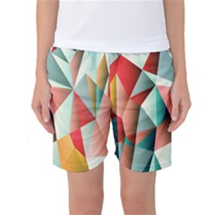 Abstracts Colour Women s Basketball Shorts