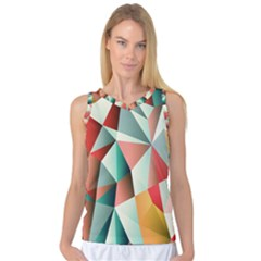 Abstracts Colour Women s Basketball Tank Top