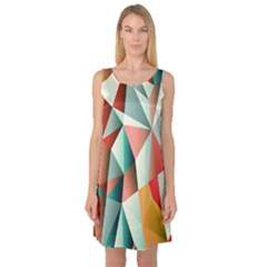 Abstracts Colour Sleeveless Satin Nightdress