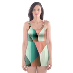 Abstracts Colour Skater Dress Swimsuit