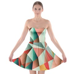 Abstracts Colour Strapless Bra Top Dress