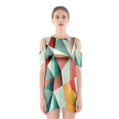 Abstracts Colour Shoulder Cutout One Piece