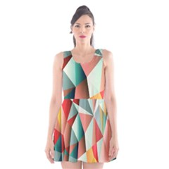 Abstracts Colour Scoop Neck Skater Dress