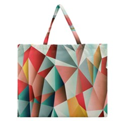 Abstracts Colour Zipper Large Tote Bag