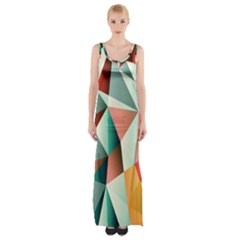 Abstracts Colour Maxi Thigh Split Dress