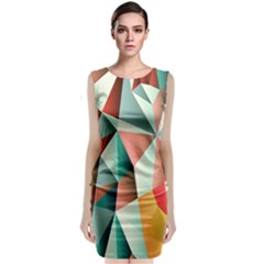 Abstracts Colour Classic Sleeveless Midi Dress