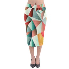 Abstracts Colour Midi Pencil Skirt