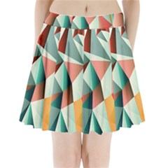 Abstracts Colour Pleated Mini Skirt