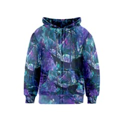 Abstract Ship Water Scape Ocean Kids  Zipper Hoodie
