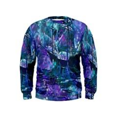 Abstract Ship Water Scape Ocean Kids  Sweatshirt
