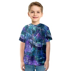 Abstract Ship Water Scape Ocean Kids  Sport Mesh Tee