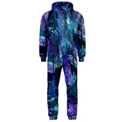 Abstract Ship Water Scape Ocean Hooded Jumpsuit (Men)