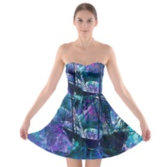 Abstract Ship Water Scape Ocean Strapless Bra Top Dress