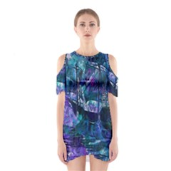 Abstract Ship Water Scape Ocean Shoulder Cutout One Piece
