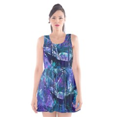 Abstract Ship Water Scape Ocean Scoop Neck Skater Dress