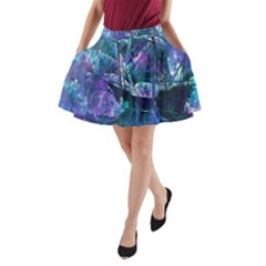 Abstract Ship Water Scape Ocean A Line Pocket Skirt
