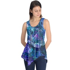 Abstract Ship Water Scape Ocean Sleeveless Tunic