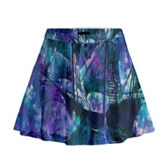 Abstract Ship Water Scape Ocean Mini Flare Skirt