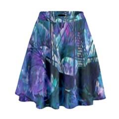 Abstract Ship Water Scape Ocean High Waist Skirt