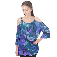 Abstract Ship Water Scape Ocean Flutter Tees