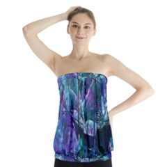 Abstract Ship Water Scape Ocean Strapless Top
