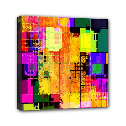 Abstract Squares Background Pattern Mini Canvas 6  x 6