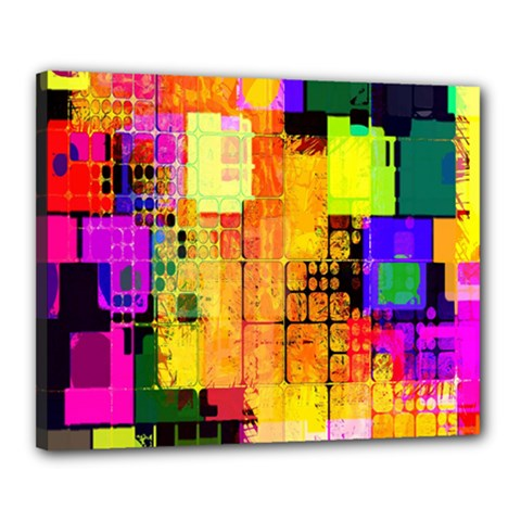 Abstract Squares Background Pattern Canvas 20  x 16