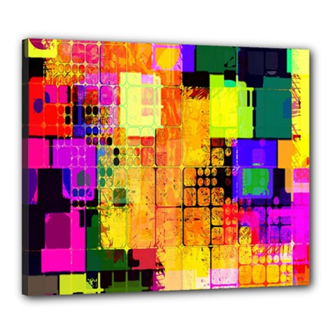 Abstract Squares Background Pattern Canvas 24  x 20