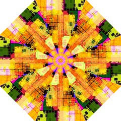 Abstract Squares Background Pattern Folding Umbrellas