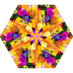 Abstract Squares Background Pattern Mini Folding Umbrellas