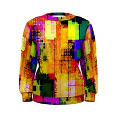 Abstract Squares Background Pattern Women s Sweatshirt