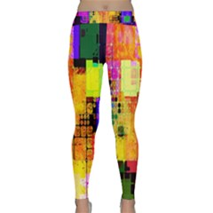 Abstract Squares Background Pattern Classic Yoga Leggings