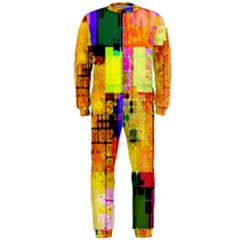 Abstract Squares Background Pattern Onepiece Jumpsuit (men)