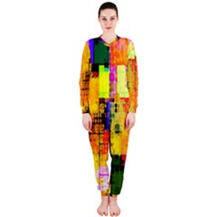 Abstract Squares Background Pattern Onepiece Jumpsuit (ladies)