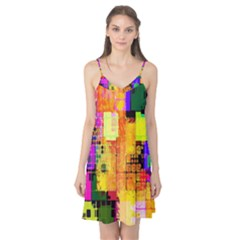 Abstract Squares Background Pattern Camis Nightgown