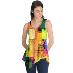 Abstract Squares Background Pattern Sleeveless Tunic