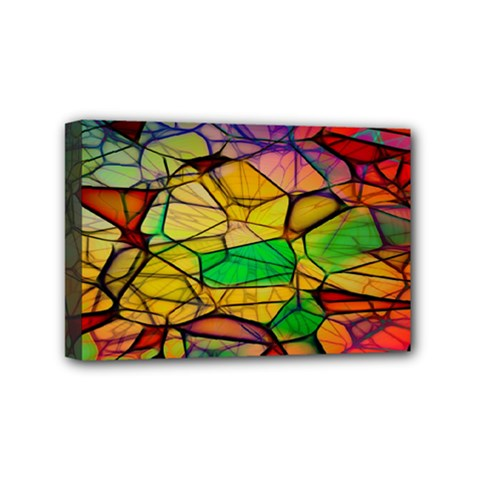 Abstract Squares Triangle Polygon Mini Canvas 6  x 4