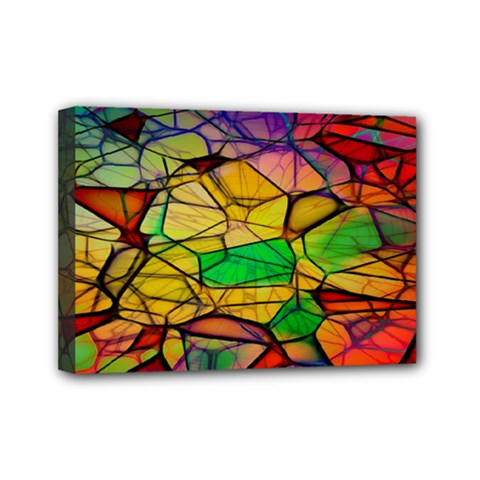 Abstract Squares Triangle Polygon Mini Canvas 7  x 5